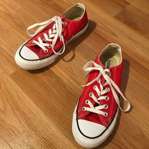 Excellent condition red Converse shoes